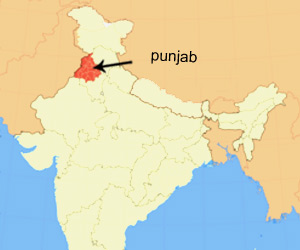Location of Punjab