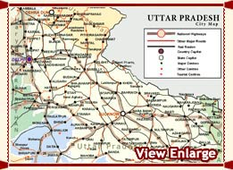 Uttar Pradesh Maps  Maps of Uttar Pradesh  Road Map of Uttar