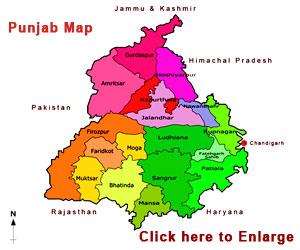 Map Of Punjab Punjab Map   Punjab State Map Map Of Punjab